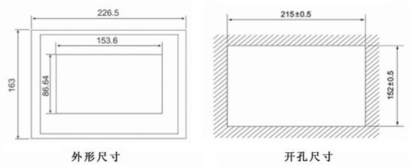 产品型号:YH8000R YH8000R触摸屏PLC一体机,即兼顾触摸屏功能也有PLC的功能,它可以用来设置参数,显示数据,监控设备状态,以曲线/动画等形式描绘自动化控制过程。 一、触摸屏PLC一体机详细介绍 YH8000R通用型触摸屏PLC一体机,是通过触摸式工业显示器把人和机器连为一体的智能化界面。它是替代传统控制按钮和指示灯的智能化操作显示终端。它可以用来设置参数,显示数据,监控设备状态,以曲线/动画等形式描绘自动化控制过程。 即兼顾触摸屏功能也有PLC的功能,更方便、快捷、表现力更强, 功能强大的